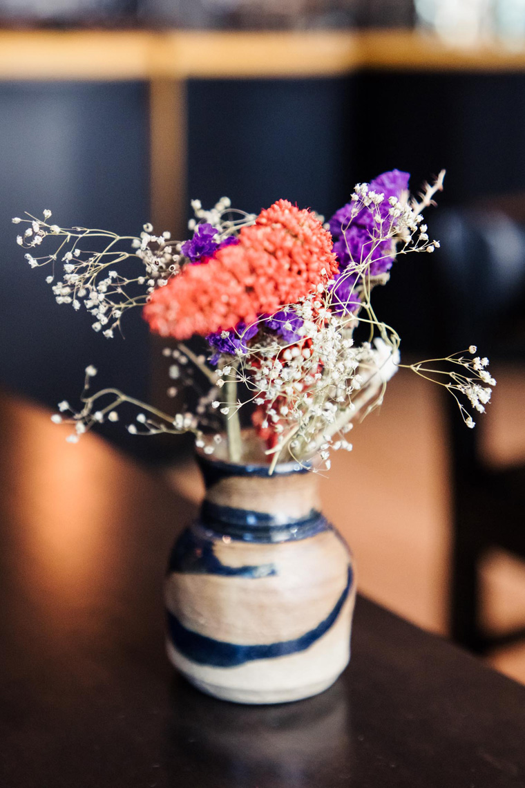 Flowers in a bud vase