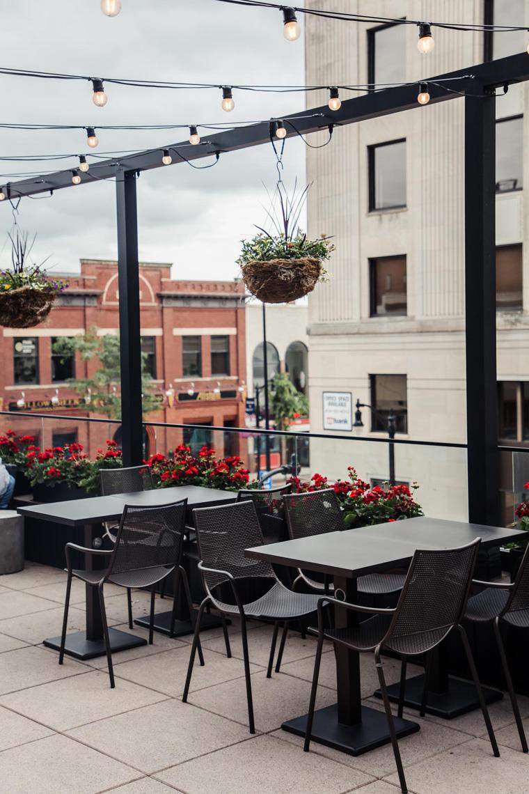 Dive rooftop patio