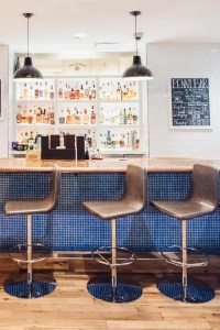 Bar with chairs