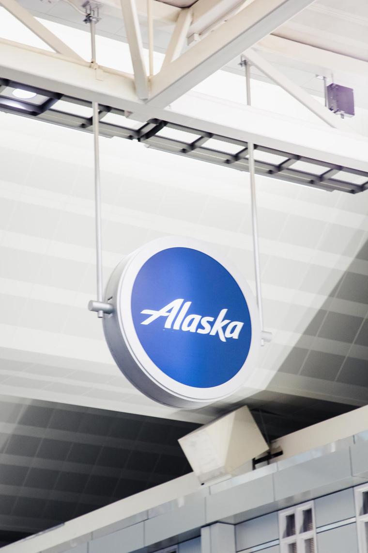 Alaska Airlines sign