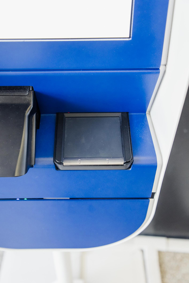 CLEAR kiosk touchpad