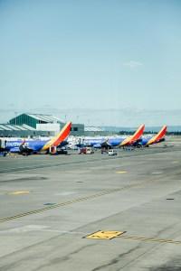 Southwest planes in Portland