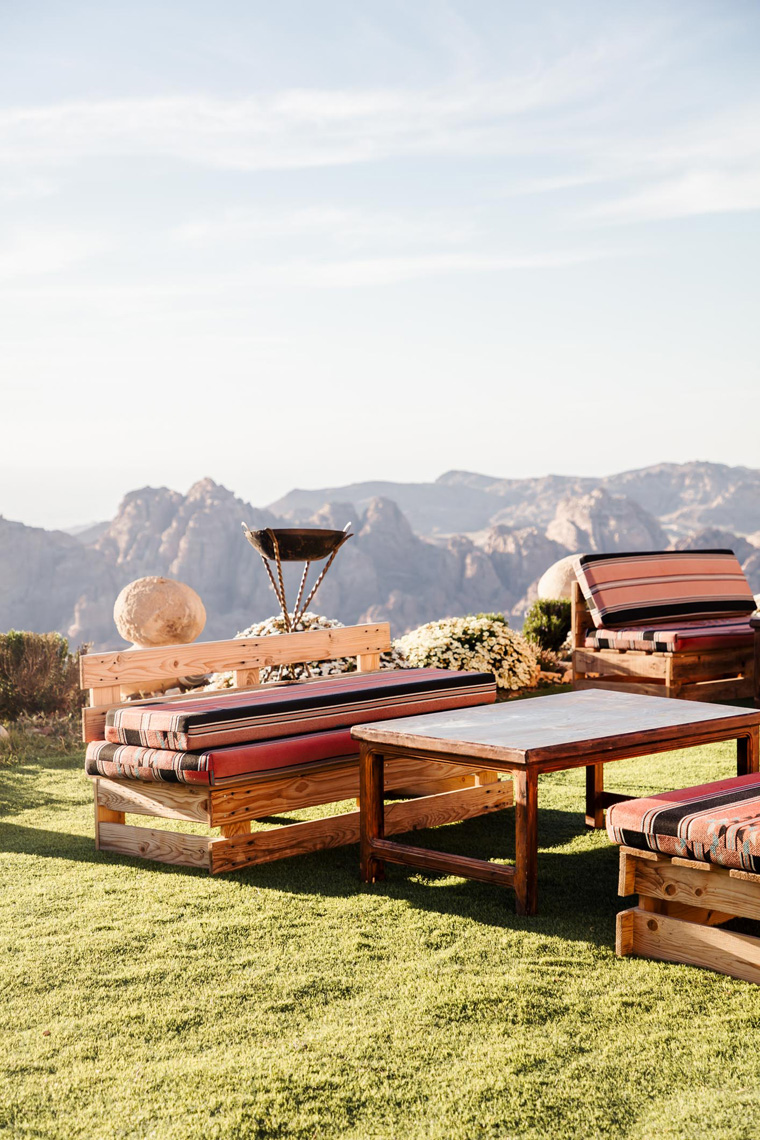 Outdoor table and couches
