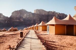 Wadi Rum camp, Memories Aicha Luxury Camp tents