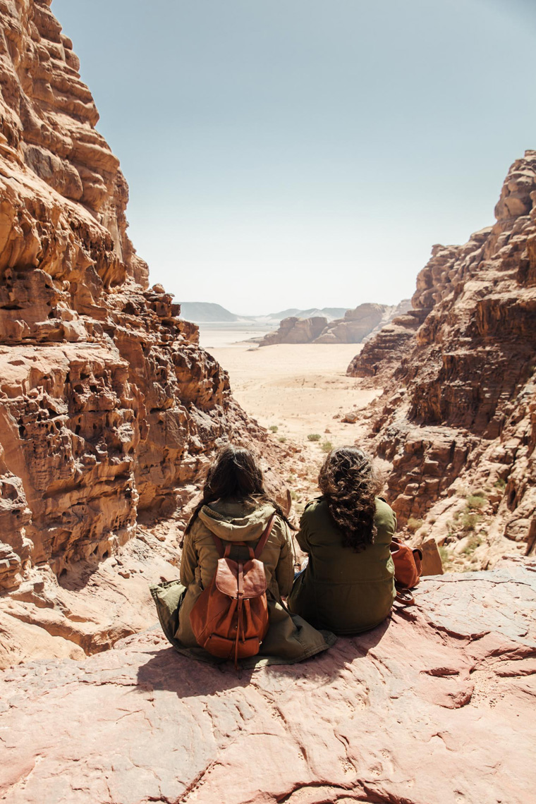 Wadi Rum rock ledge