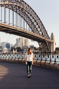 Carly by the Harbour Bridge