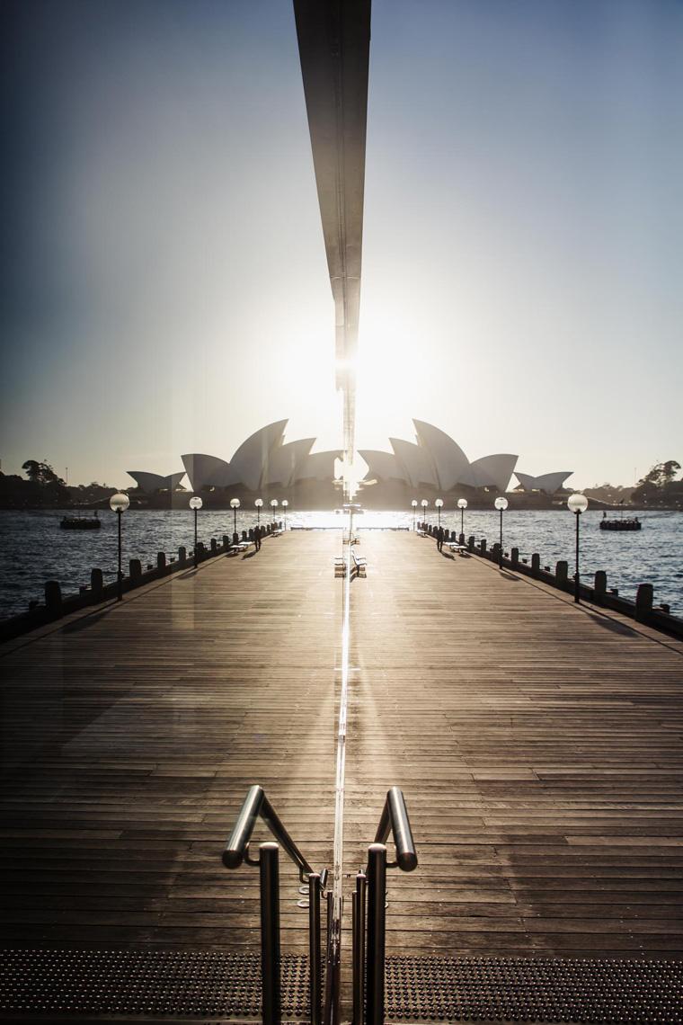 Sydney Opera House mirrored