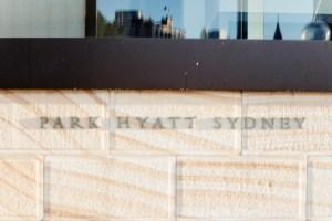 Park Hyatt Sydney sign