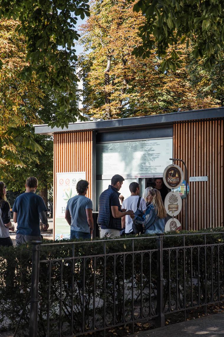 Letna Park kiosk