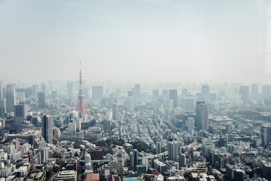 Mori Tower view - Tokyo itinerary 7 days