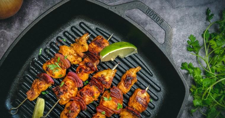 秘魯烤雞&醬烤蝦仁雙拼烤肉串