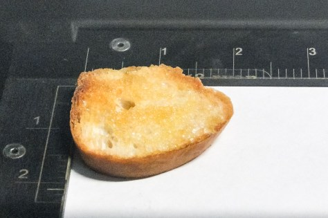 Little Toast awaiting it's fate