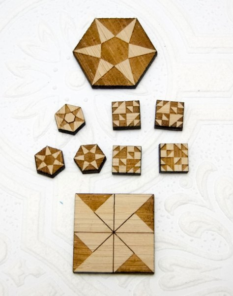 Naked Quilt blocks, just the bamboo!