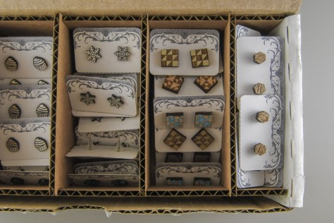 A little extra space is left on the end for miscellaneous OOAK studs.