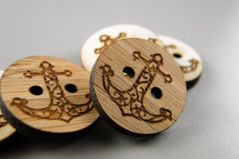 I am in love this this new anchor design etched into bamboo!