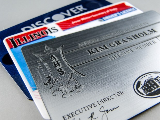 The membership card fits nicely with other ID and credit cards.