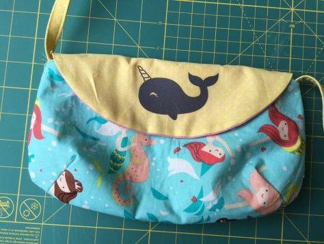 Rebecca sacrificed her favorite mermaid fabric for this project. and it turned out amazingly cute!