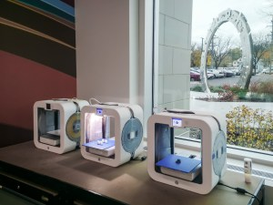 Three 3D printers, which we named Picard, Riker and Data.