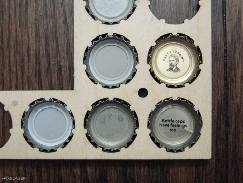 Bottle caps have feelings too. Look at how well the studs fit between the teeth!