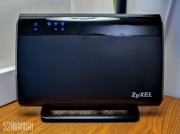 ZyXEL's wireless router, up close and personal.