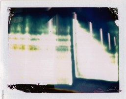 Land 100: Double exposure, one exposure extremely bright stainless steel tanks which blew out the photo.