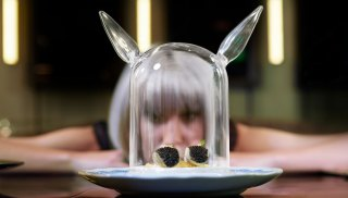 Rose. Rabbit. Lie. caviar tacos
