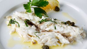 White fish at Estiatorio Milos