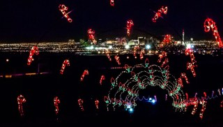 A view from Glittering Lights at Las Vegas Motor Speedway.