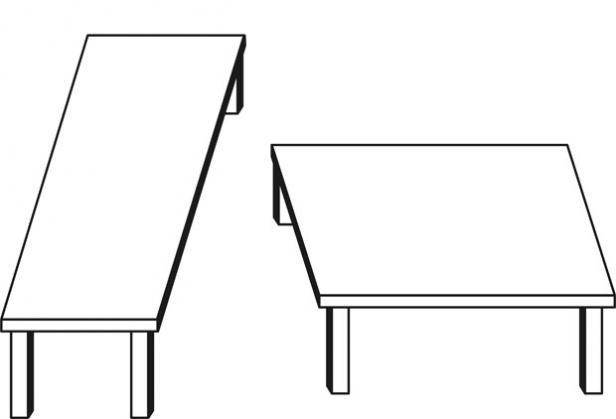 Nudge - kluge Entscheidungen - zwei Tische