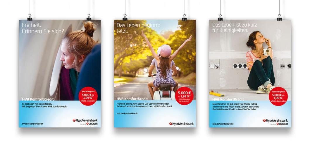 Werbeplakate der Hypovereinsbank