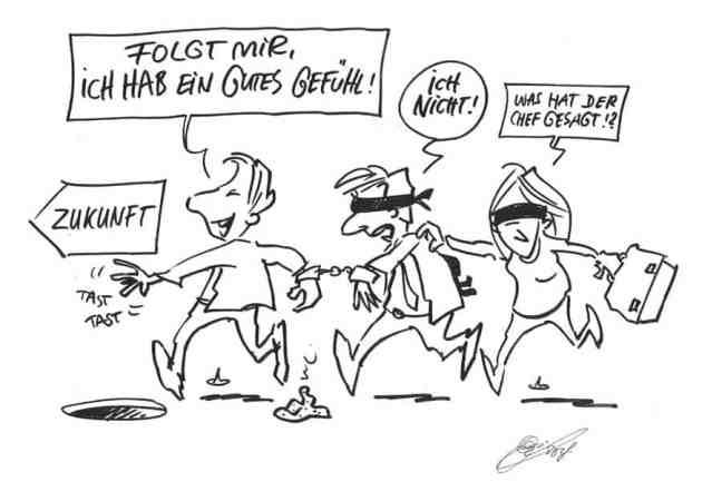 Strategie und Einbindung 2_Karikatur_Wirksame Change-Impulse
