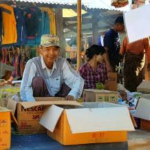 Street vendor in a village at Inle lake