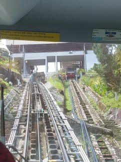 Going up Penang Hill