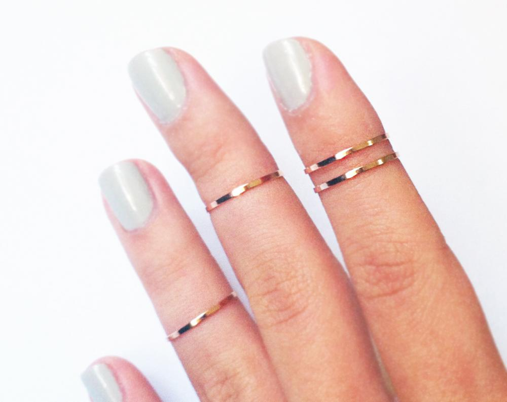 4 Thin Knuckle Rings