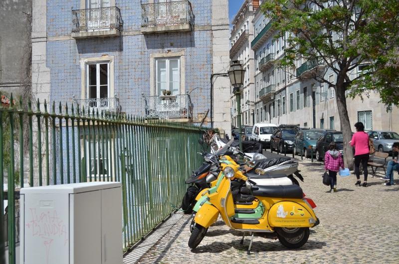 Lisbonne en scooter