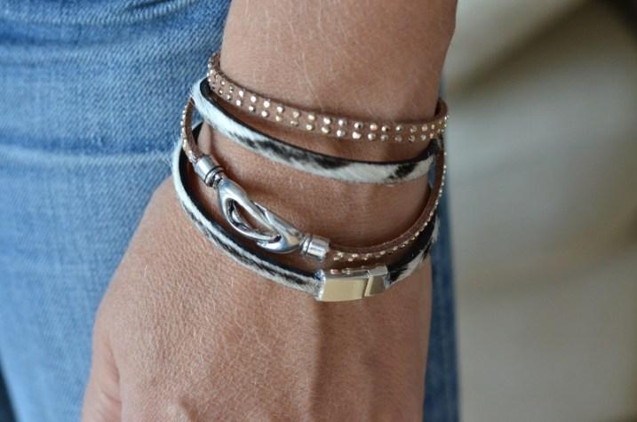 Mes bracelets en cuir