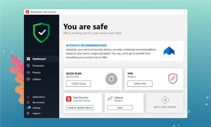 Bitdefender User Interface