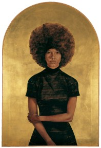 Barkley L. Hendricks (American, born 1945). Lawdy Mama, 1969. Oil and gold leaf on canvas, 53 3/4 x 36 1/4 in. (136.5 x 92.1 cm). The Studio Museum in Harlem, Gift of Stuart Liebman, in memory of Joseph B. Liebman, 83.25. © Barkley L. Hendricks. Photo: Courtesy of the artist and Jack Shainman Gallery, New York