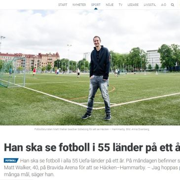 Swedish media report on Fotboll i 55 Länder!