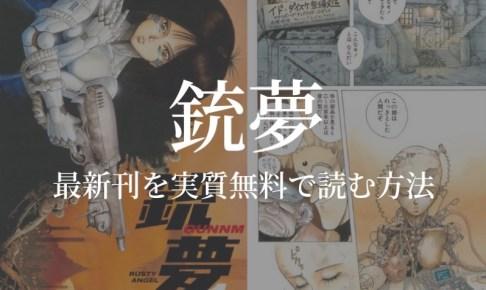 【全9巻】漫画『銃夢』を実質無料で読む方法を紹介する