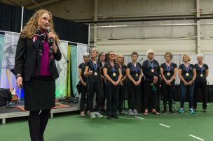 Sara Wegwitz with Gold Champions Gorging Dragons