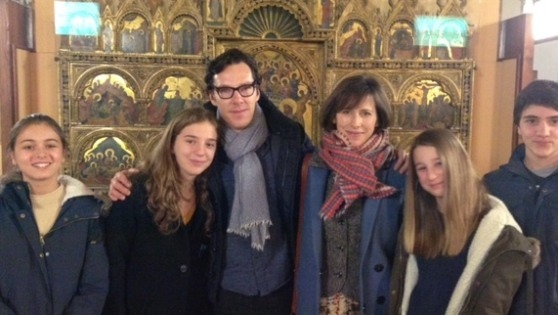the–cumberbatches:  Benedict Cumberbatch and Sophie Hunter spotted by fans at the Gallerie dell'Accademia in Venice on February 14, 2016 where they celebrated their wedding anniversary!