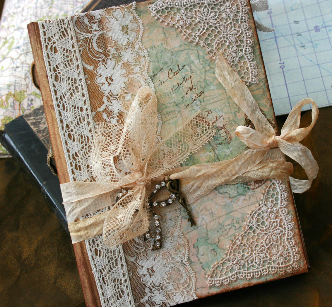 Wedding Guest Book  Our Journey Of Love  Vintage Style  Custom Made  Has 32 Pages on Luulla
