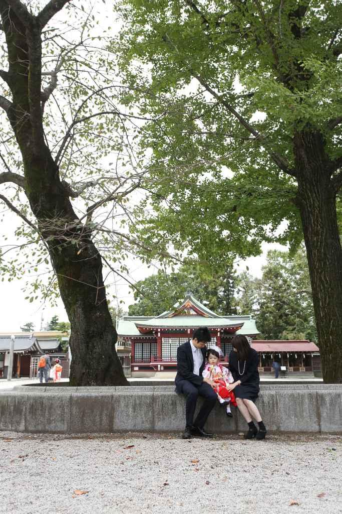 立川諏訪神社家族写真