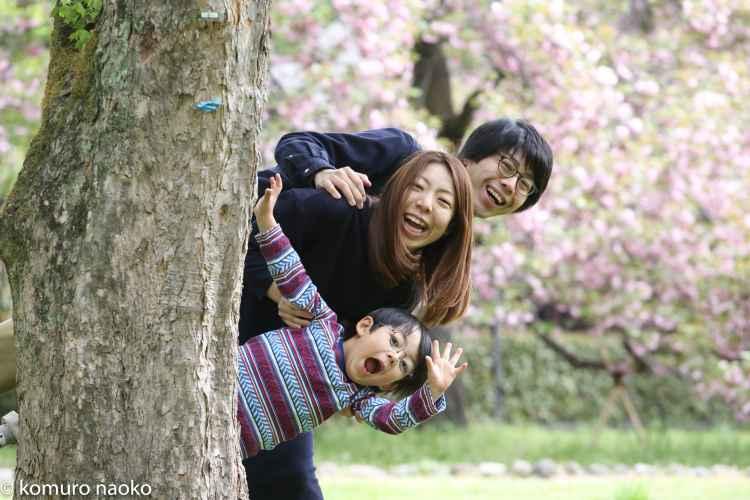 こむの木家族写真小金井公園
