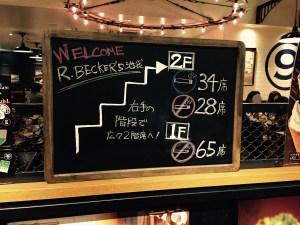 JR池袋東口のR-ベッカーズの黒板