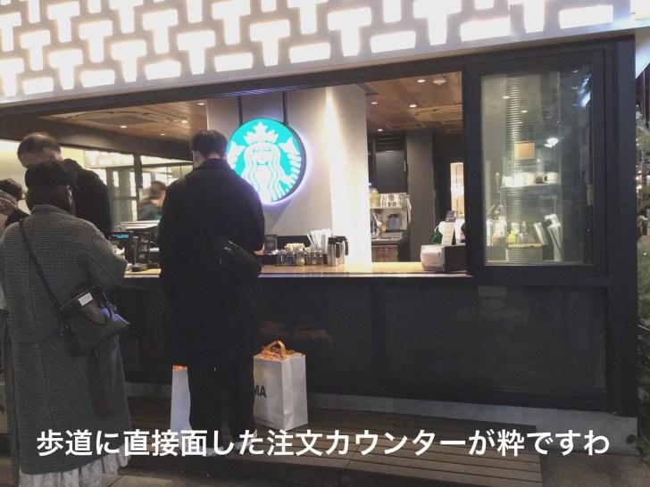 スターバックスコーヒー中目黒蔦屋書店の注文カウンター
