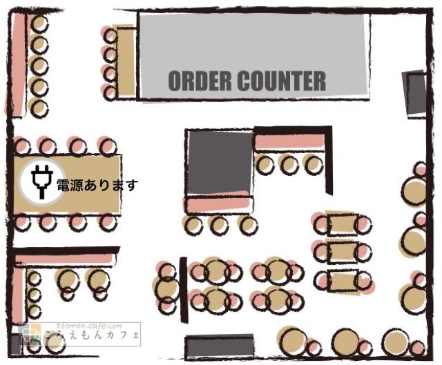 スターバックスコーヒー大崎ブライトタワー店見取り図