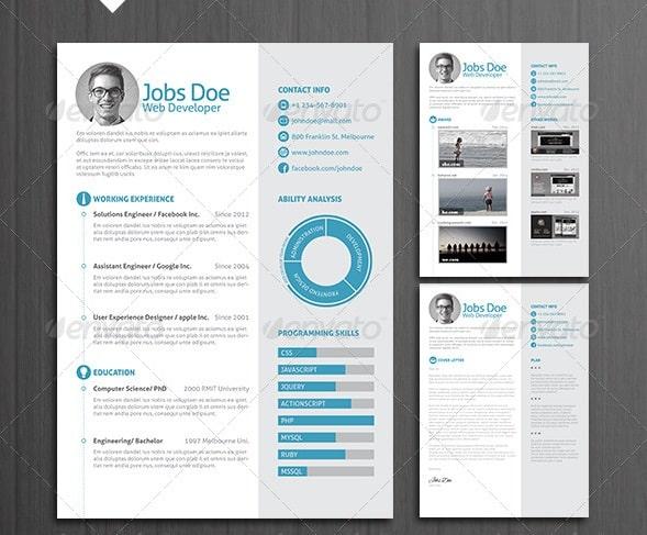 Awesome Free Resume CV Templates 56pixels Com