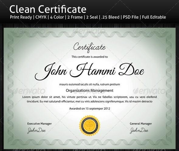 certificate template photoshop